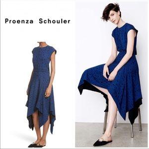 NWT PROENZA SCHOULER Print Silk Georgette Dress 4
